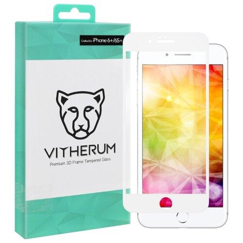 Защитное стекло Vitherum 3D TURQUOISE для Apple iPhone 6 Plus/6S Plus белый защитное стекло caseguru для apple iphone 6 6s silver logo