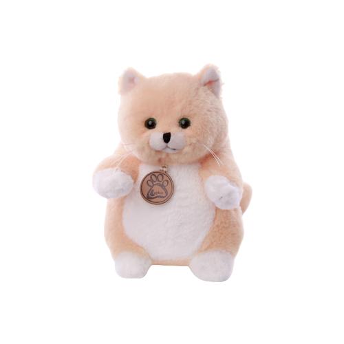 Мягкая игрушка Lapkin Толстый кот персиковый 16 см