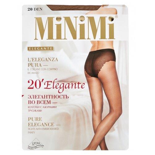 Колготки MiNiMi Elegante 20 den, размер 4-L, daino (бежевый) колготки minimi body form 40 den размер 4 l daino бежевый