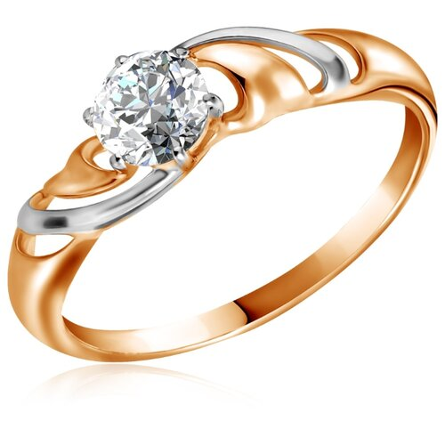Бронницкий Ювелир Кольцо из красного золота Д0268-017300, размер 17 бронницкий ювелир кольцо из красного золота д0268 017060 размер 17