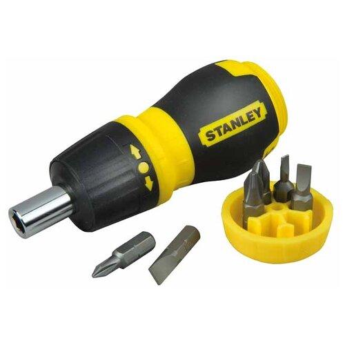 Фото - Отвёртка со сменными битами STANLEY 0-66-358, 7 предм., черный/желтый отвёртка со сменными битами whirlpower 96 6108 8 предм черный