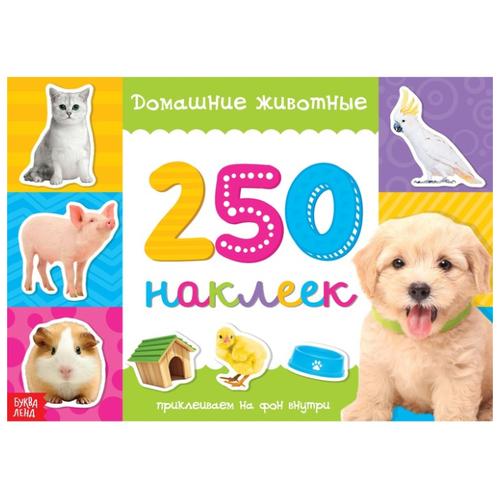 Книжка с наклейками 250 наклеек. Домашние животные книжка с наклейками 250 наклеек магазин