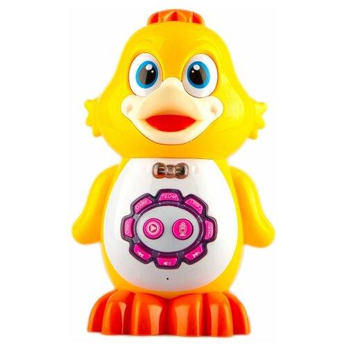 Купить Детская развивающая функциональная сенсорная игрушка PlaySmart Умный Утёнок, желтый, Play Smart, Развивающие игрушки