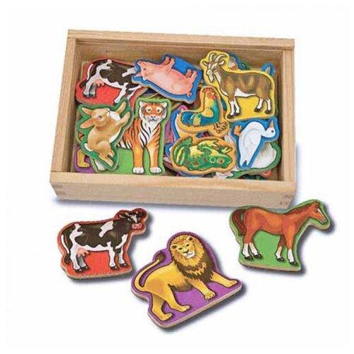 Купить Melissa&Doug Магнитные игры Деревянные магнитные животные, Melissa & Doug, Развитие мелкой моторики