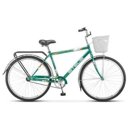 велосипед stels navigator 300 gent 28 z010 20 синий Велосипед Stels Navigator 28' 300 Gent Z010 (с корзиной), Зелёный