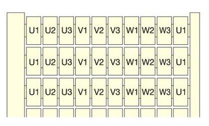 Маркировка для клеммной колодки/ клеммного блока ABB 1SNA232017R1400
