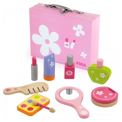 Купить Салон красоты Viga Красавица (VG50531) в чемодане, Играем в салон красоты