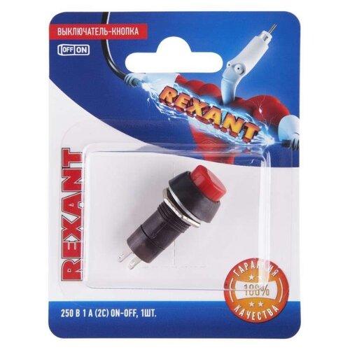 Фото - Нажимная кнопка (кнопочный выключатель/переключатель) в сборе REXANT 06-0314-A выключатель rexant 220v 3a 5с green 06 0353 a