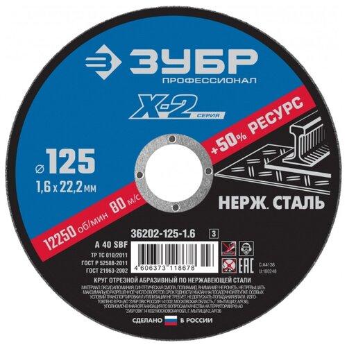 ЗУБР Профессионал X-2 36202-125-1.6_z03, 125 мм 1 шт.