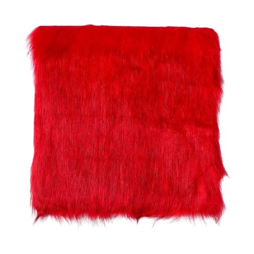 Мех искусственный Арт Узор для творчества 2150 г/м, 30x30 см красный с темными кончиками