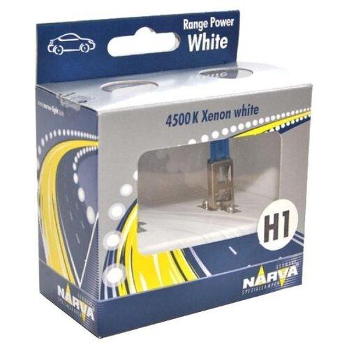 Лампа автомобильная галогенная Narva Range Power White N-48641RPW2 H1 55W 2 шт.