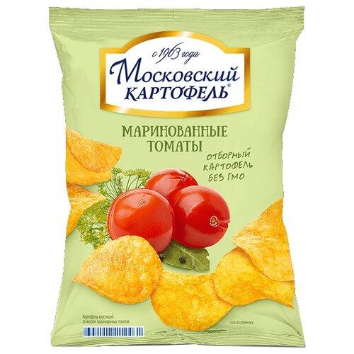 Чипсы Московский КАРТОФЕЛЬ картофельные Маринованные томаты, 60 г