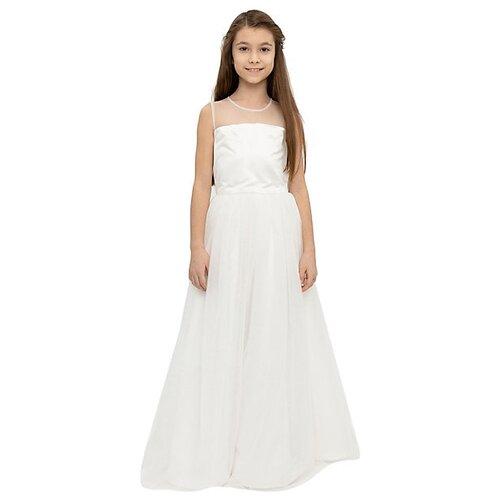 Купить Сарафан Gulliver размер 134, белый, Платья и сарафаны