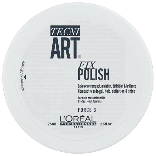 L'Oreal Professionnel Гель-воск для блеска и фиксации волос Tecni.Art Fix Polish, 75 мл фото