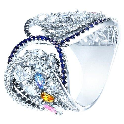 Фото - JV Серебряное кольцо с кубическим цирконием DM2182-TTR-KO-001-WG, размер 18 jv серебряное кольцо с кубическим цирконием dm0026r ko 001 wg размер 18