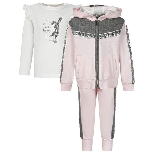 Спортивный костюм Aletta размер 98, розовый/белый
