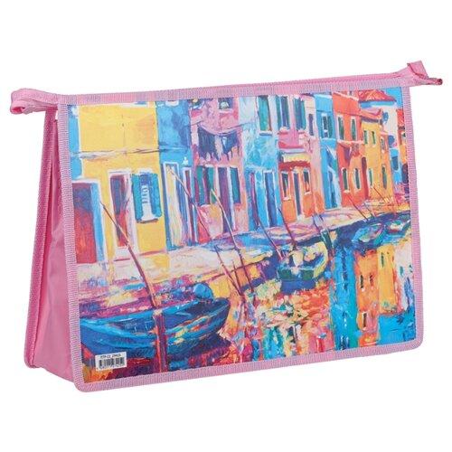 ArtSpace Папка для тетрадей Impress А4, на молнии, пластик розовый недорого