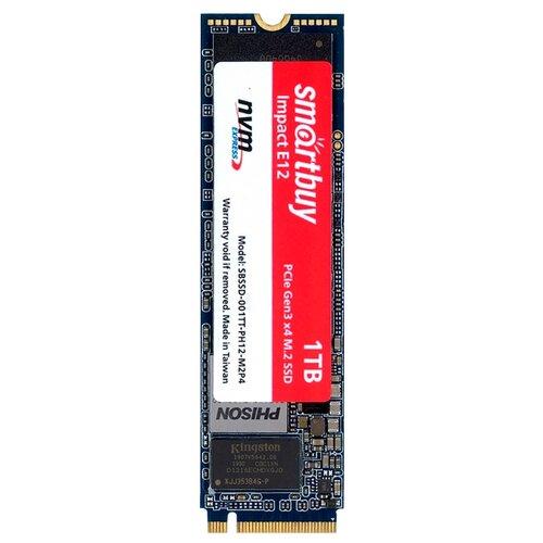 Твердотельный накопитель SmartBuy 1024 GB (Impact E12 1 TB (SBSSD-001TT-PH12-M2P4)) синий