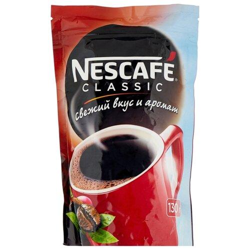 Кофе растворимый Nescafe Classic гранулированный, пакет, 130 г nescafe classic crema кофе растворимый 70 г пакет