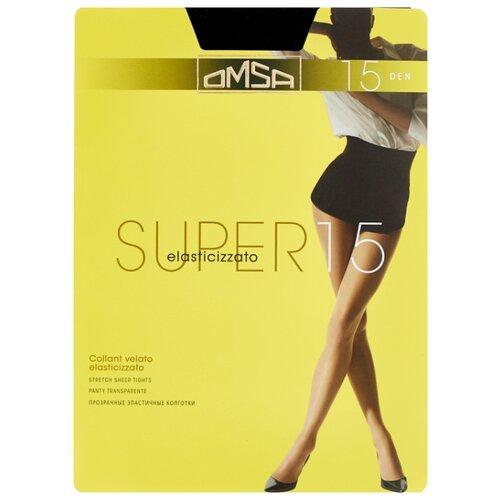 Колготки Omsa Super 15 den, размер 3-M, nero (черный) колготки omsa silhouette 15 den размер 3 m nero