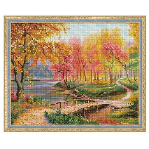 Алмазная живопись Набор алмазной вышивки Осень в старом парке (АЖ-1822) 50*40 см