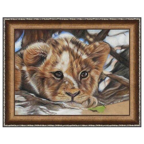Купить Алмазная живопись Набор алмазной вышивки Львенок (АЖ-1524) 40х30 см, Алмазная вышивка