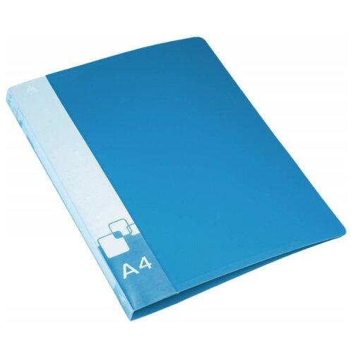 Купить Бюрократ Папка на 2-х кольцах A4, пластик, 27 мм синий, Файлы и папки