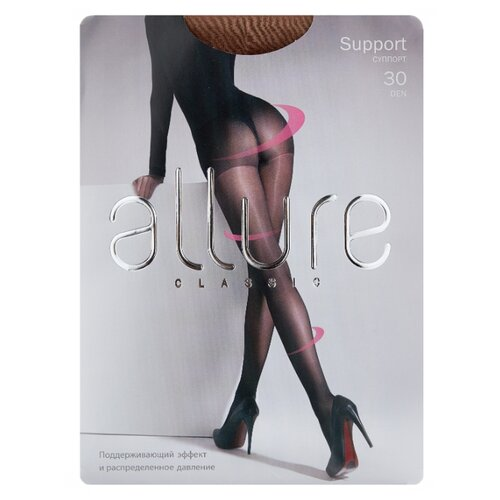 Колготки ALLURE Classic Support 30 den, размер 3, glase (золотистый) колготки anfica classic 30 den