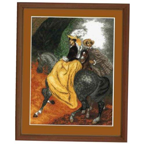Купить Hobby & Pro Набор для вышивания Всадники 42 х 32 см (658), Наборы для вышивания