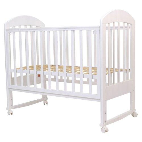 Кроватка Топотушки Дарина-2 (колесо) (качалка), на полозьях белый кроватка гандылян дашенька колесо качалка белый