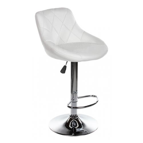 Стул Woodville Curt, металл/искусственная кожа, цвет: белый стул woodville kosta металл искусственная кожа цвет white black