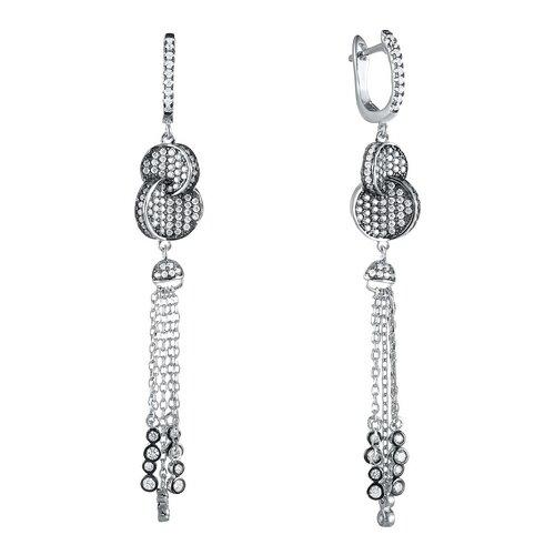 JV Серебряные серьги с фианитом SS-B0951EB-SR-001-WG