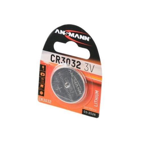 Батарейка ANSMANN CR3032 1 шт блистер батарейка ansmann cr1620 1 шт блистер
