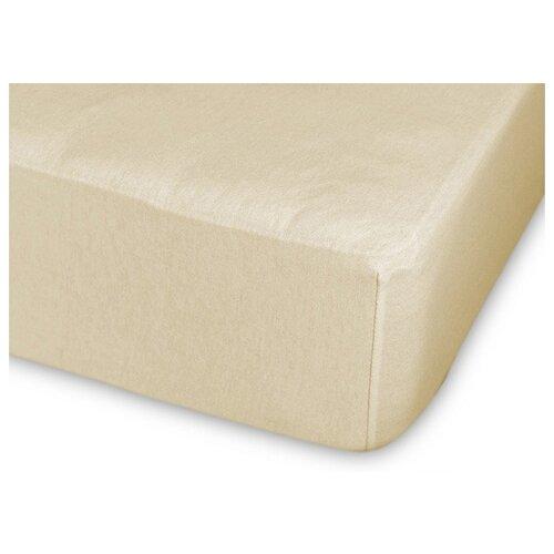 Фото - Простыня Cleo трикотажная на резинке 140 гр 90 х 200 см кремовый простыня amore mio трикотажная на резинке 120 х 200 см сиреневый