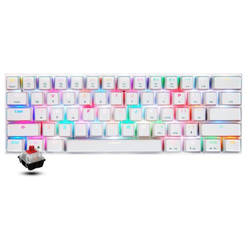 Клавиатура Motospeed CK62 White RGB Red Switch (+русская раскладка)