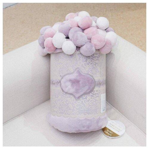 цена на Плед Sofi De MarkO Multi-ball 160х220 см, фиолетовый