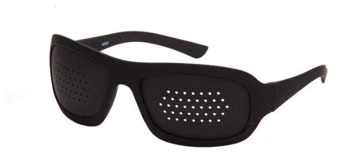 Очки тренажеры SPG перфорационные в пластиковой оправе, цвет оправы: черный