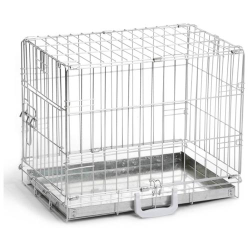 Клетка для собак Beeztees Bench 1-door, zinc plated 715745 49х36х40 см серый