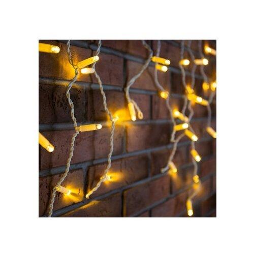 Фото - Гирлянда NEON-NIGHT 255-037-6, 76 ламп, теплый белый/белый провод светодиодная уличная гирлянда бахрома neon night синего свечения 2 4х0 6 м 76 led