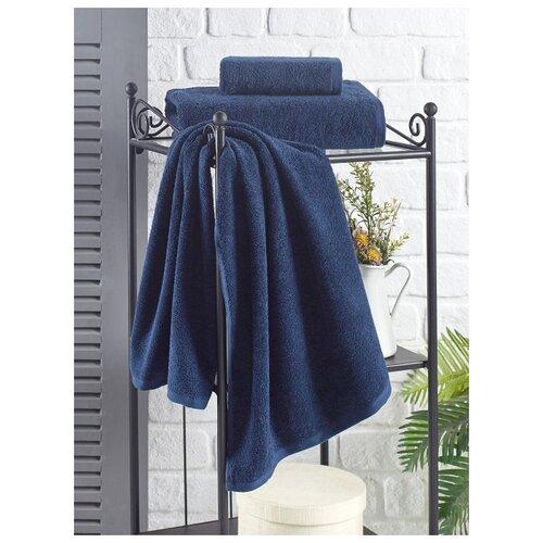 Полотенце махровое Karna. Efor, 70х140 см, цвет синий