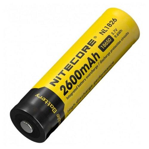 Фото - Аккумулятор Li-Ion 2600 мА·ч Nitecore NL1826/NL186 1 шт блистер аккумулятор