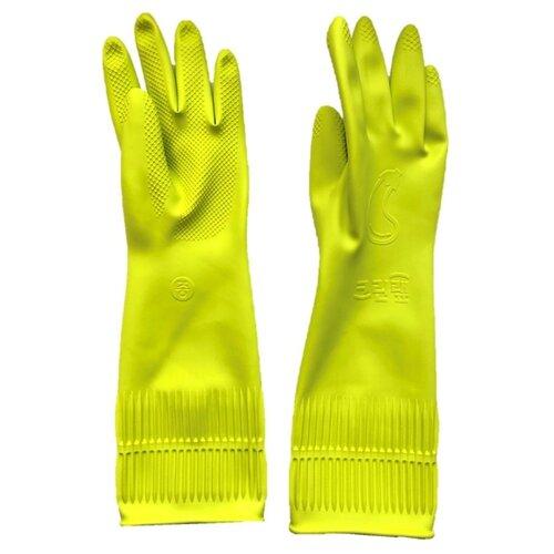 Перчатки Clean Wrap Pastel латексные, 1 пара, размер M, цвет зеленый