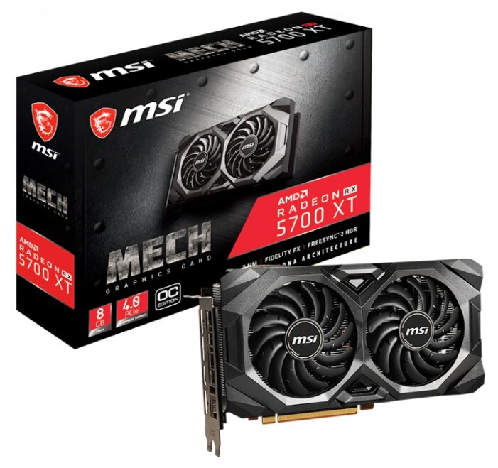 Видеокарта MSI Radeon RX 5700 XT 1670MHz PCI-E 4.0 8192MB 14000MHz 256 bit 3xDisplayPort HDMI HDCP M