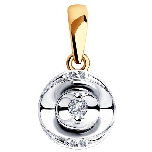 SOKOLOV Подвеска из комбинированного золота с бриллиантами 1030728