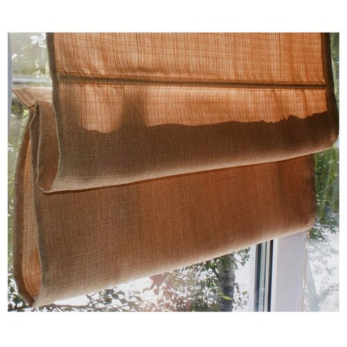 Римская штора Эскар тканевая (терракотовый), 80х160 см римская штора томдом глемсис