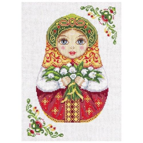 Купить PANNA Набор для вышивания Русская матрешка. Весна 22 х 29 см (НМ-1839), Наборы для вышивания