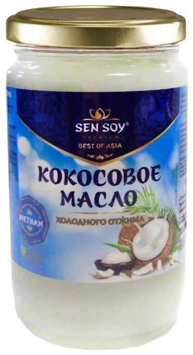 Sen Soy Масло кокосовое холодного отжима, банка