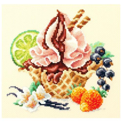 Купить Чудесная Игла Набор для вышивания Ванильное мороженое 17 х 17 см (120-071), Наборы для вышивания
