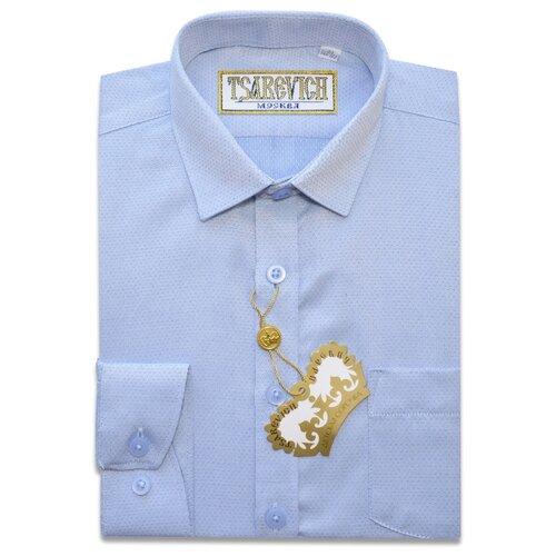 Рубашка Tsarevich размер 33/146-152, голубой