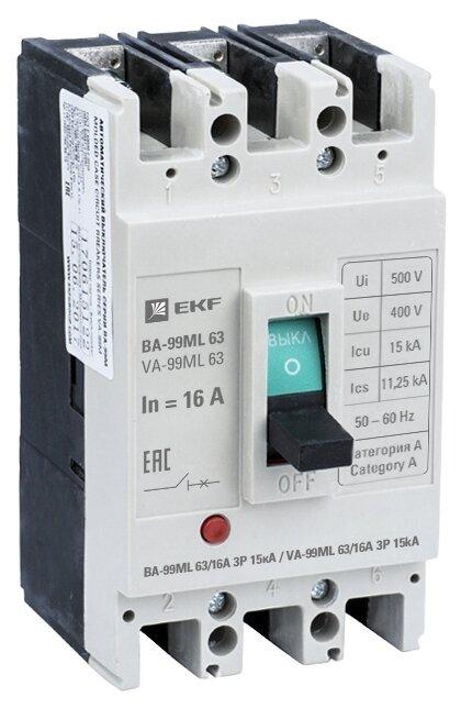 Автоматический выключатель EKF ВА-99М 3P (термомагнитный) 15kA